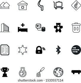 art vector icon set such as: kitchen, victory, win, square, stock, yellow, old, architecture, package, junk, lab, wheel, trash, competition, building, start, map, chemical, field, fork, effect, fill