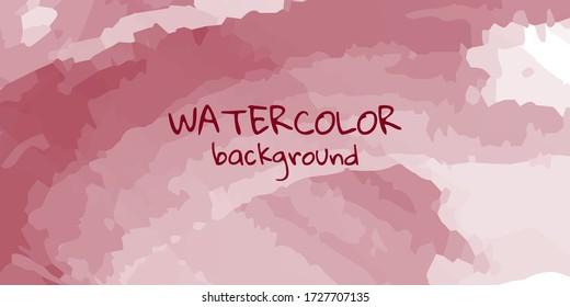 Art of watercolor burgundy brush background
