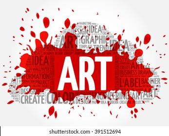 ART word cloud, creative business concept background - Shutterstock ID 391512694