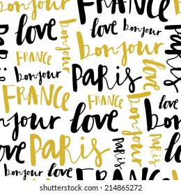 Art word seamless pattern, fashion background. Used for wallpaper, pattern fills, web page background,surface textures.