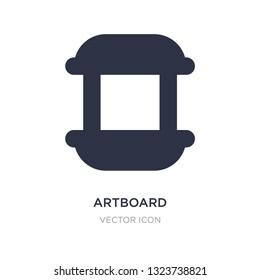artboard icon on white background. Simple element illustration from UI concept. artboard sign icon symbol design.