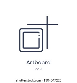 artboard icon from user interface outline collection. Thin line artboard icon isolated on white background.