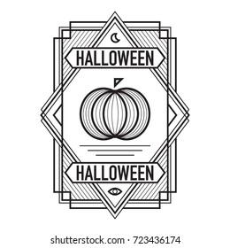 ArtDeco Halloween Frame Black