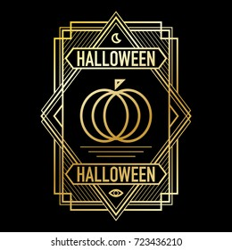 ArtDeco Halloween Frame Gold