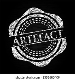 Artefact with chalkboard texture