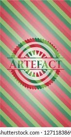 Artefact christmas colors style emblem.