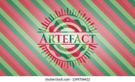 Artefact christmas style emblem. Vector Illustration. Detailed.