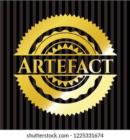 Artefact gold badge or emblem