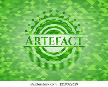 Artefact green mosaic emblem