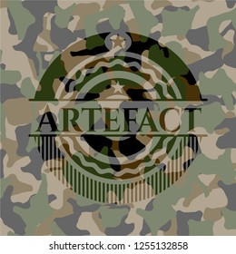 Artefact on camouflage pattern