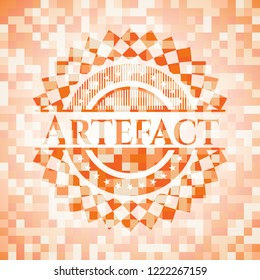 Artefact orange mosaic emblem