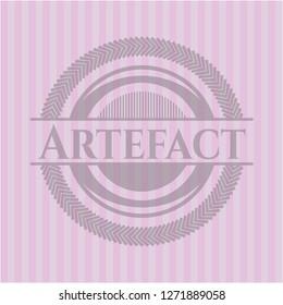 Artefact pink emblem