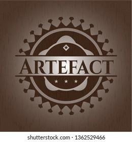 Artefact retro wood emblem