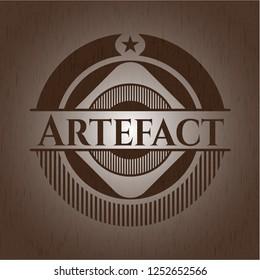 Artefact retro wooden emblem
