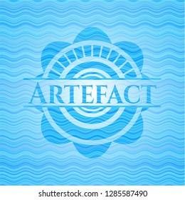 Artefact water concept emblem.