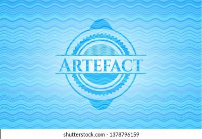 Artefact water emblem background.