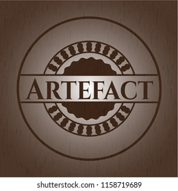 Artefact wood emblem. Retro