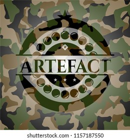Artefact written on a camo texture