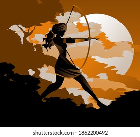 artemis diana goddess greek roman of the hunters