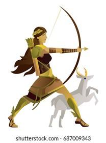 artemis diana greek roman mythology goddess of the hunters