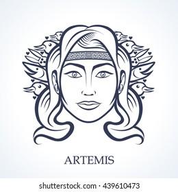 Artemis, the greek goddess of hunting
