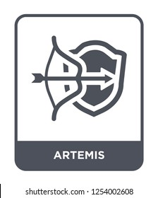 artemis icon vector on white background, artemis trendy filled icons from Greece collection, artemis simple element illustration