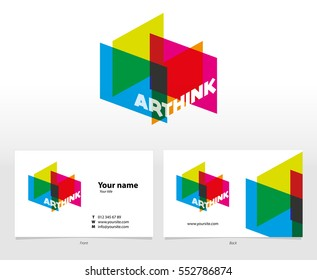 Arthink Company Logo and Business Card Template