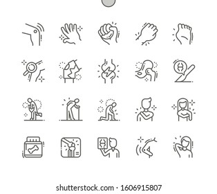Arthritis Well-crafted Pixel Perfect Vector Thin Line Icons 30 2x Grid for Web Graphics and Apps. Simple Minimal Pictogram