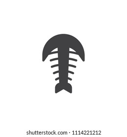 Arthropod fossil vector icon. filled flat sign for mobile concept and web design. Trilobite paleozoic era simple solid icon. Symbol, logo illustration. Pixel perfect vector graphics
