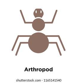 Arthropod icon vector isolated on white background, Arthropod transparent sign , historical stone age symbols