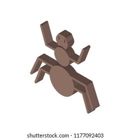 Arthropod isometric left top view 3D icon