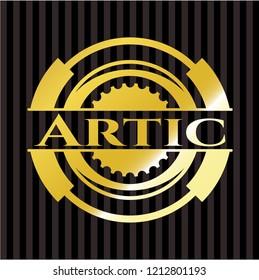 Artic golden badge or emblem