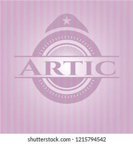 Artic realistic pink emblem