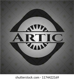 Artic retro style black emblem