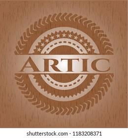 Artic retro wood emblem