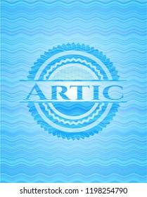 Artic water representation emblem.