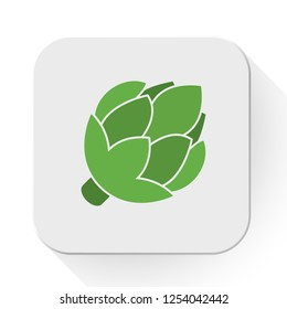 Artichoke icon. Flat illustration of artichoke vector icon isolated on white background