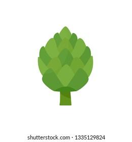 Artichoke icon. Flat illustration of artichoke vector icon isolated on white background