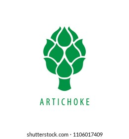 Artichoke icon. Simple illustration of artichoke vector.