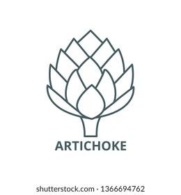 Artichoke line icon, vector. Artichoke outline sign, concept symbol, flat illustration