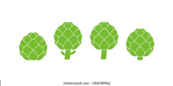 Artichoke logo.  Isolated artichoke on white background. EPS 10. Vector illustration