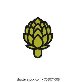 Artichoke. Vector icon