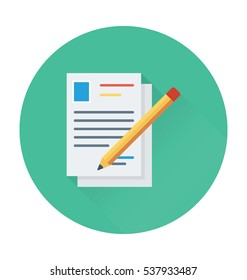 Article Writing Vector Icon