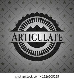 Articulate dark icon or emblem