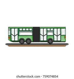 Articulated bus vehicle