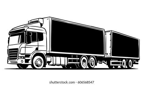 Articulated lorry with a trailer