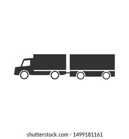 Articulated Truck Simple Vector Logo Icon Ilustration