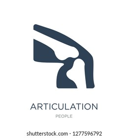 articulation icon vector on white background, articulation trendy filled icons from People collection, articulation vector illustration