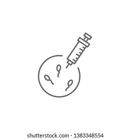 Artificial insemination, injection icon. Element of artificial insemination icon. Thin line icon for website design and development, app development. Premium icon