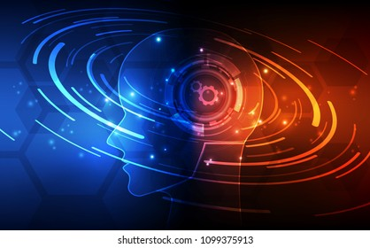 Artificial intelligence. AI digital technology in future. Virtual concept. vector illustration background.